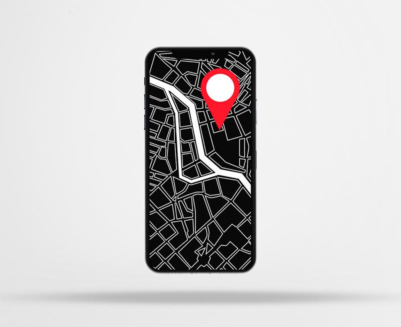 Bild vom Navigationssystem